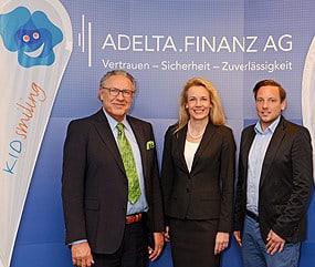 Foto von Dr. Sanda von Möller mit Günther J. Piff von der ADELTA.FINANZ AG.