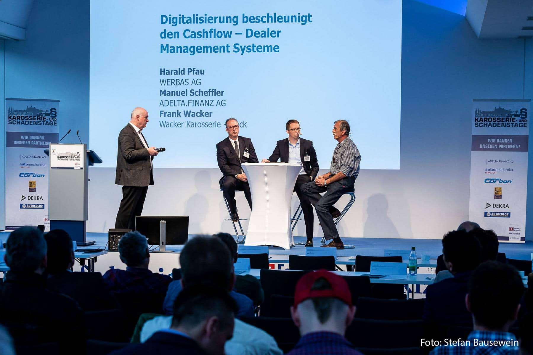 Manuel Scheffler, Vertriebsvorstand der ADELTA.FINANZ AG war Speaker auf den Würzburger Karosserie- und Schadenstagen 2018.